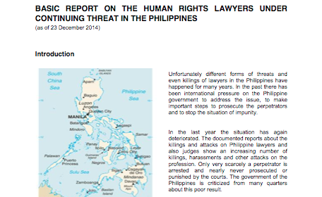report on the Philippines